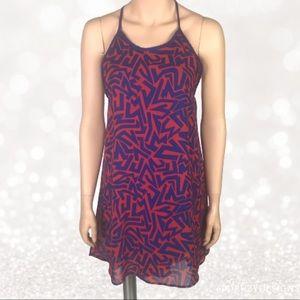 Black Bead High Low Dress Peekaboo Back Size S